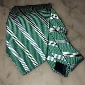 Brooks Brothers 100 % Silk multi Color Striped Tie